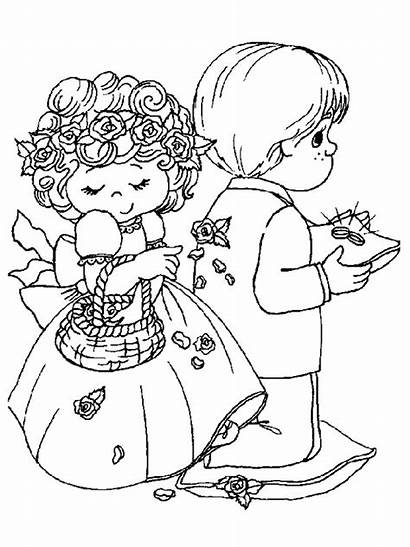 Coloring Pages Weddings Marry Fun Trouwen