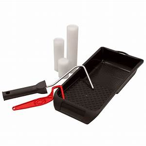 Set Of 3x Lacquer Sleeve 2x Paint Roller Frame 1x Paint Tray