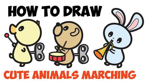 drawing cartoon animals archives   draw step