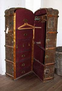 Lot Malle Armoire De Voyage Wardrobes Plaque Du