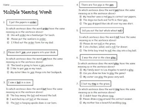 1000 images about multiple meaning words on pinterest