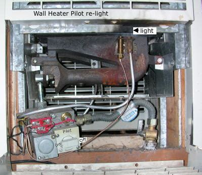 heater pilot light mcbride cabin notes