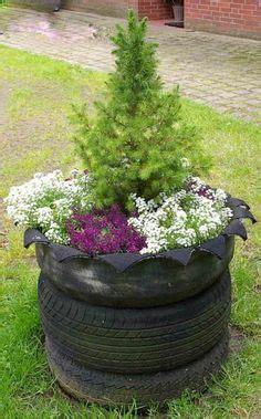 Brunnen Aus Autoreifen by Brunnen Aus Autoreifen Die Bemalt Wurden Garten