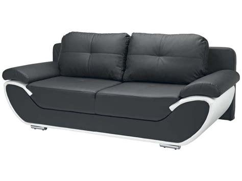 canapé noir et blanc convertible canapé fixe convertible 3 places pacora coloris noir et