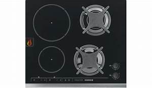 Plaque De Cuisson Gaz Induction : table de cuisson mixte gaz induction 57 cm encastrable noire 4 foyers rosieres ec ros303 mon ~ Melissatoandfro.com Idées de Décoration