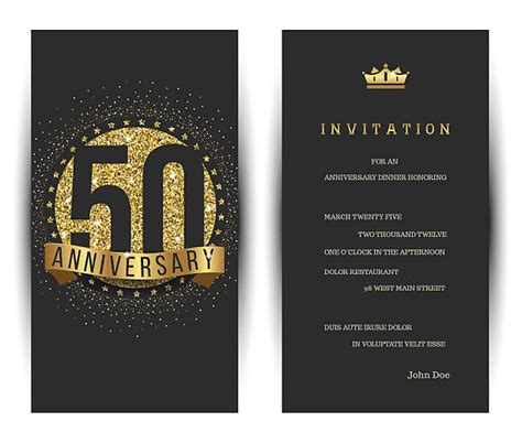 50th Wedding Anniversary Illustrations Royalty Free