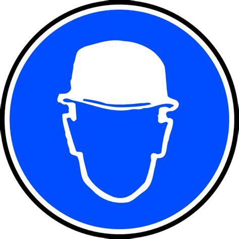 port du casque obligatoire mantatory hat clip at clker vector clip royalty free