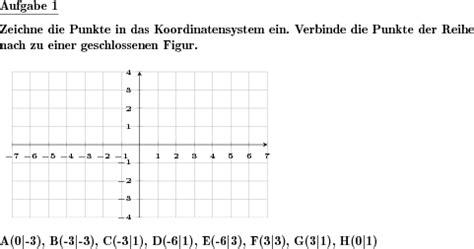 punkte  koordinatensystem einzeichnen individuelle