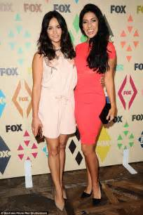 fox jumpsuit pink lea michele and attend fox tca summer all
