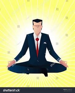 Zen Business Man Guru Vector Illustration - 225685153 ...
