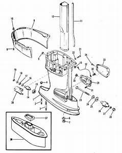 Mercury Marine 35 Hp  2 Cylinder  Drive Shaft Housing Parts