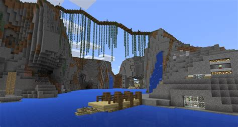 epic cliffs base creation minecraft pe maps