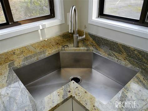 corner kitchen sink   copper  stainless