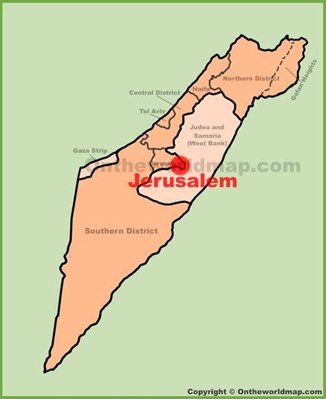 jerusalem located   map  travel