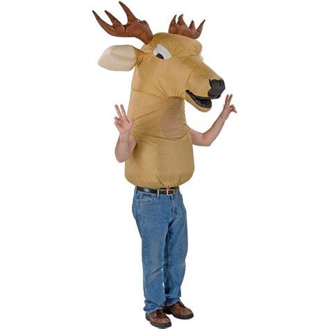 oversized inflatable deer head costume  green head