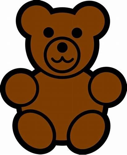 Teddy Bear Brown Toy Fluffy Vector Clip