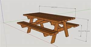 Table Bois Pique Nique : plan table de pique nique par peiot sur l 39 air du bois ~ Melissatoandfro.com Idées de Décoration