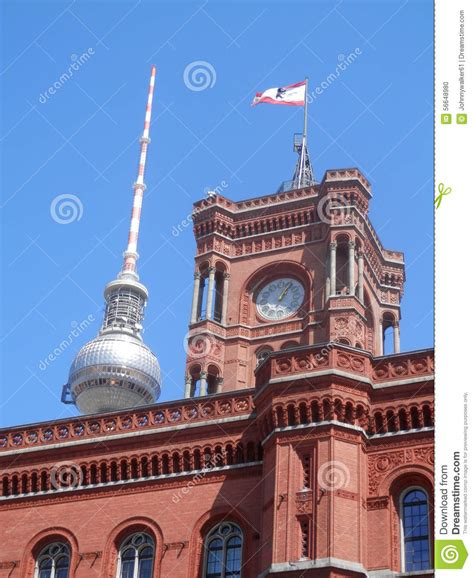 The Red Town Hall And Television Tower - Berlin Royalty ...