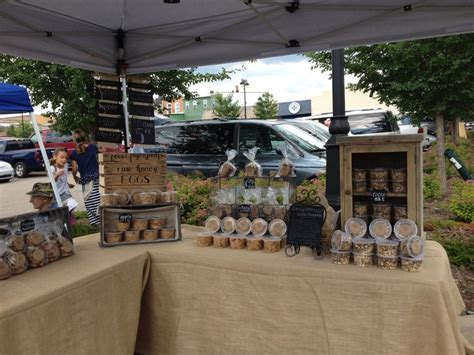 milk honey  grains farmers market display burlap chalkboards  weathered wood apple