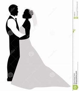 Dessin Couple Mariage Noir Et Blanc : silhouette de couples de mariage illustration de vecteur ~ Melissatoandfro.com Idées de Décoration