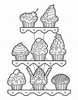 Muffin Coloring Printable Colouring Muffins Museprintables Clip Printables Drawing Pdf sketch template