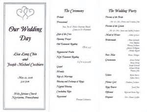 wedding reception program wedding reception program