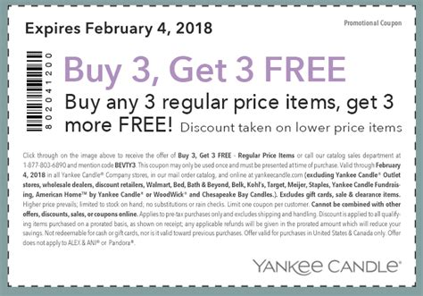 Buy Three Get Three Free Yankee Candle Coupon | Passionate ...