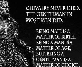 men show  wife chivalry pursuit  marriage