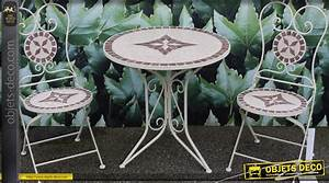 Table Mosaique Fer Forgé : salon de jardin en mosa ques et fer forg ~ Dailycaller-alerts.com Idées de Décoration