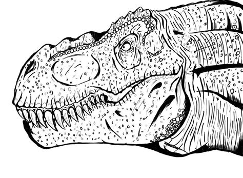 rex coloring page part   resource  teaching