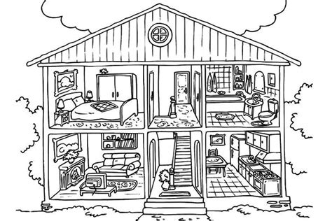 printable homes house coloring sheet  kids coloring