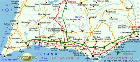 Carte Nord Ouest Détaillée by Carte Portugal Sud Voyages Cartes