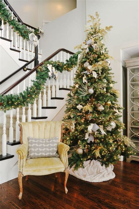 white tree with gold decorations decorating ideas home bunch interior design ideas