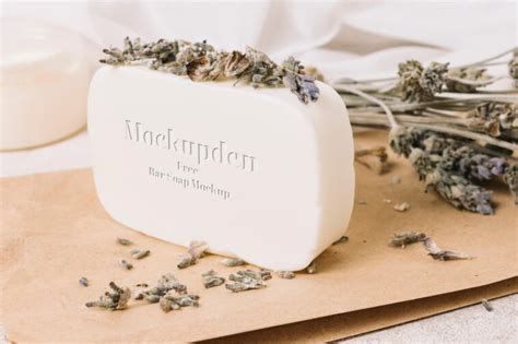 Download this free photoshop mockup of soap bars and paper boxes. Rectangular Bar Soap Mockup - Free Download