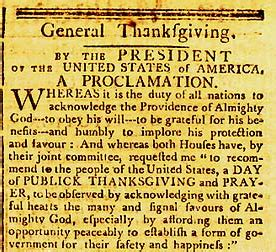 november 26 1789 national thanksgiving aaron tallent 39 s day in history