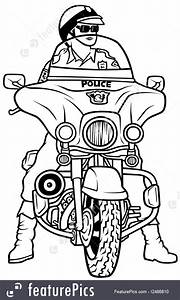 police and security road police stock illustration With motorcycle alarm