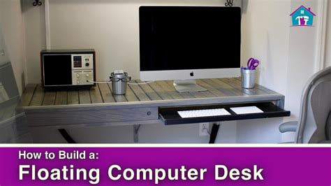 how to make a floating desk how to build a floating computer desk youtube