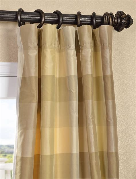 Plaid Drapery Panels by Newman Silk Taffeta Plaid Curtain For The Home Plaid