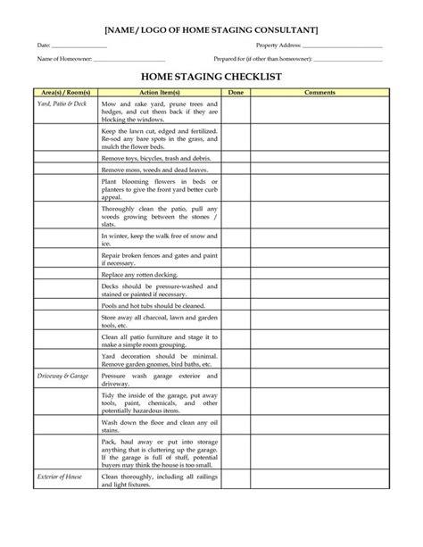 home design checklist home design checklist template home staging checklist marketing materials pinterest