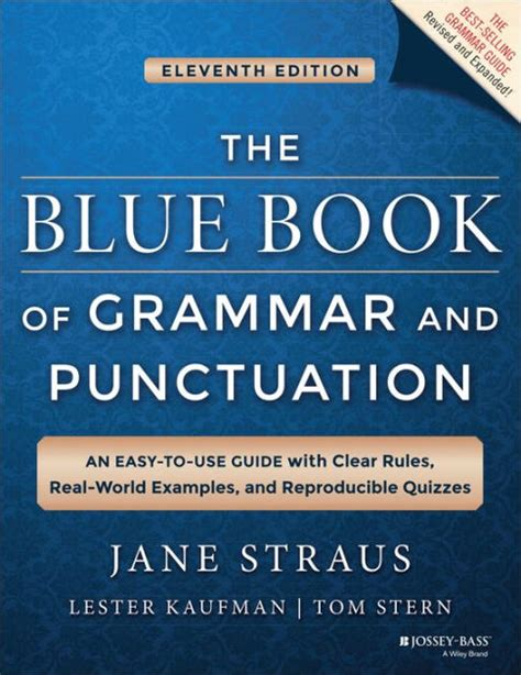 The Blue Book Of Grammar And Punctuation An Easytouse