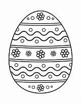 Coloring Egg Ester Easter Popular sketch template