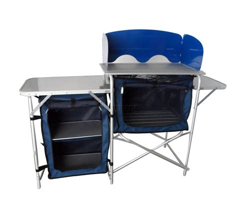 Outdoor Folding Camping Kitchen Table Stand 3 Rooms