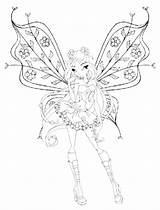 Pages Coloring Nebula Winx Club Cute Template Witch sketch template