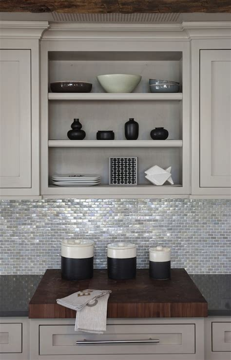 kitchen backsplash with light cabinets papyrus home design shiny sparkly kitchen with