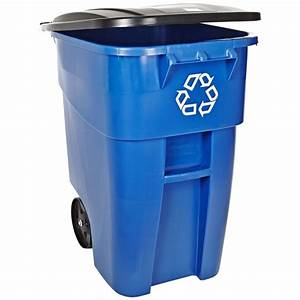 Rubbermaid Recycle Can 50 Gallon On Wheels Rollout