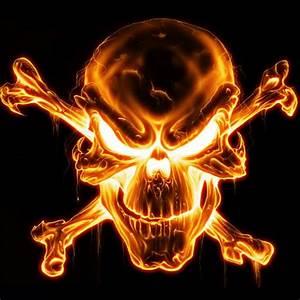 Fire skull | вокруг черепа | Pinterest | Grim reaper ...