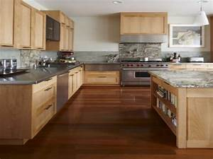 Light wood floors and kitchen cabinets, kitchen cabinet