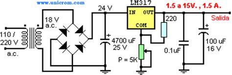 fuente de voltaje variable con lm317t electr 243 nica unicrom