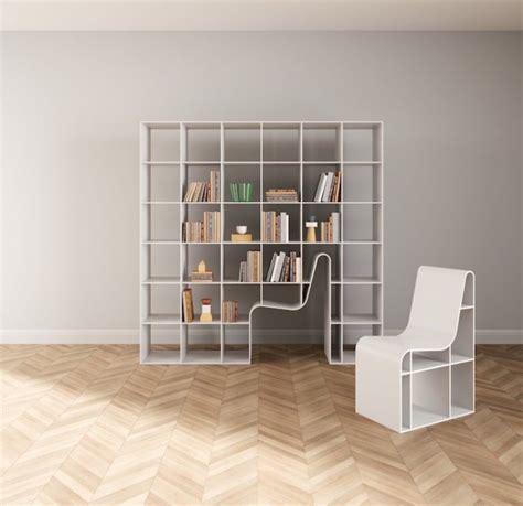 sedia libreria una sedia incorporata in una libreria il design