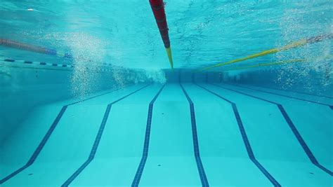 Underwater Picture Of The Lanes Of A Swimming Pool; Sport